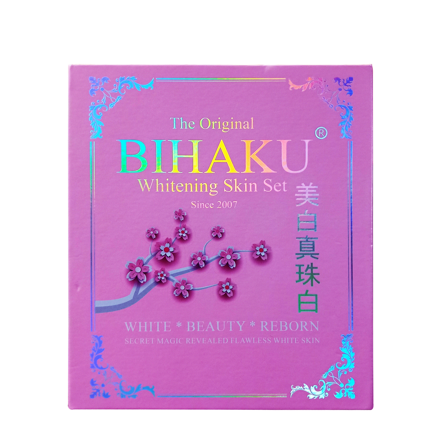 THE ORIGINAL BIHAKU WHITENING SET WHITE - BEAUTY - REBORN