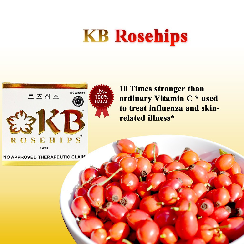 KB Vitamin C Rosehips 500mg Capsule 100's